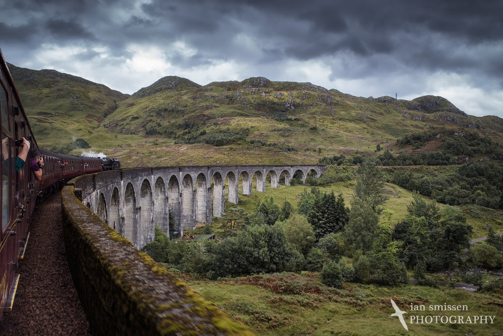 Jacobite Steamtrain on Glenfinnan Viaduct