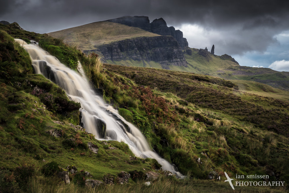 Bride's Veil Falls and Old Man of Storr