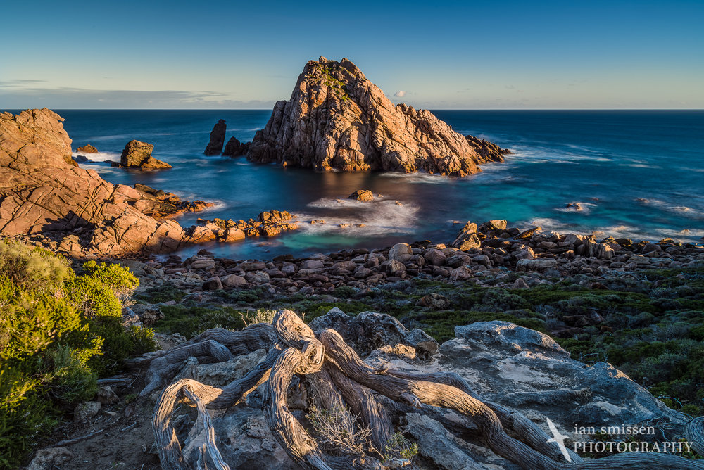 Morning sun at Sugarloaf Rock