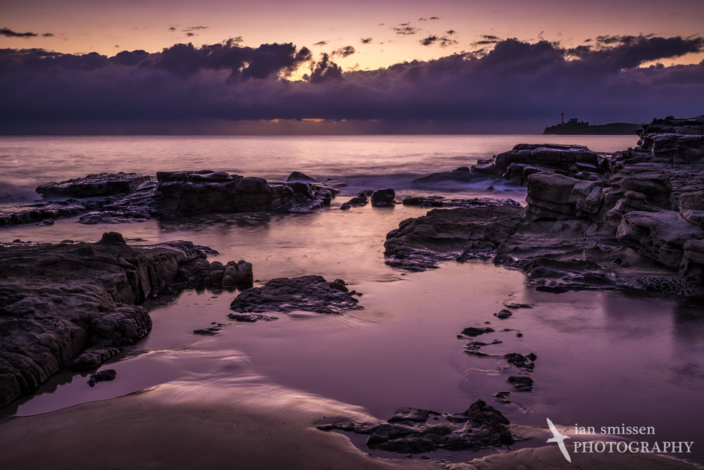 Dawn breaking at Mooloolaba Beach