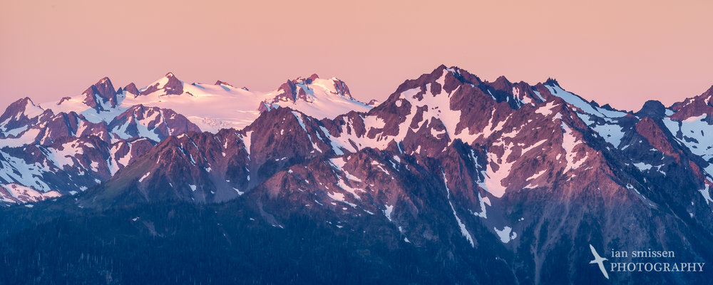 Alpenglow over the Olympic Range