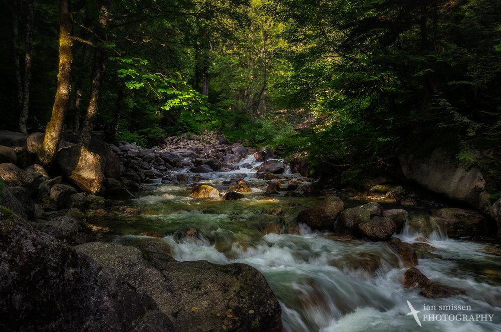 Cascades below Shannon Falls