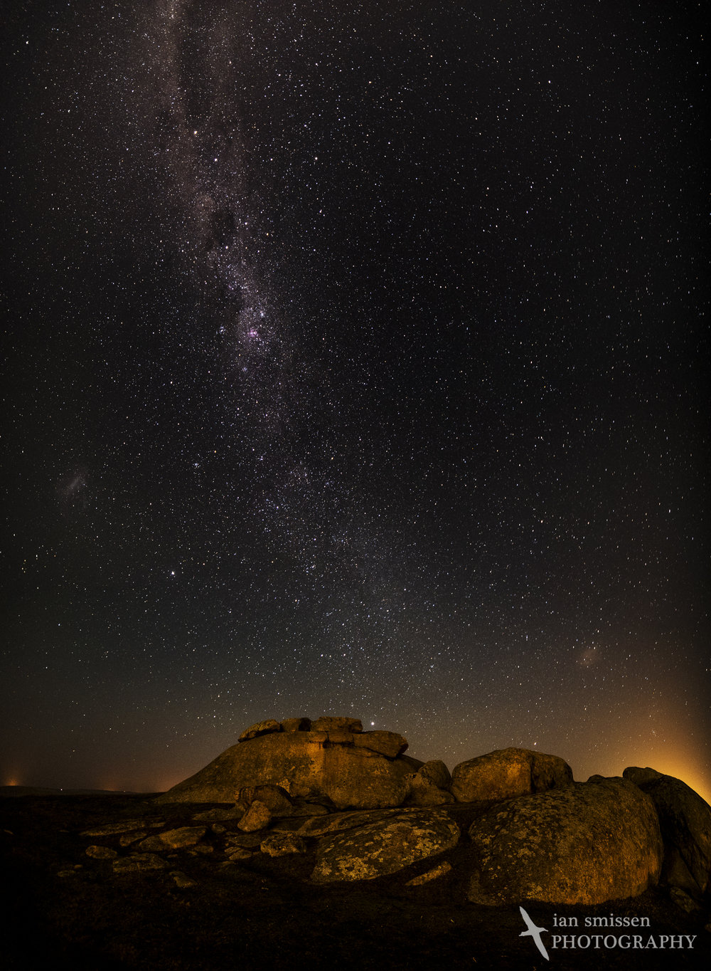 Milky Way over Dog Rocks
