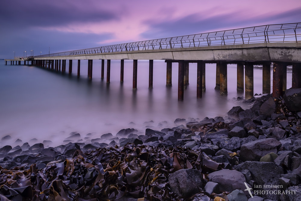 Lorne Pier after sunset