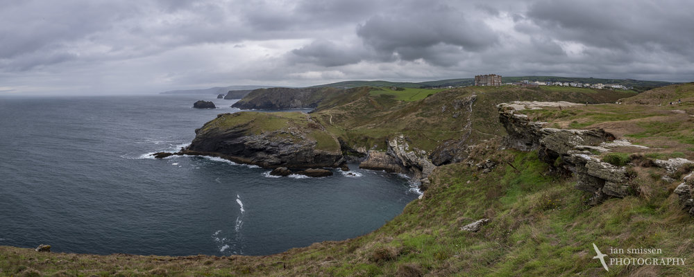 View north from Tintagel Castle
