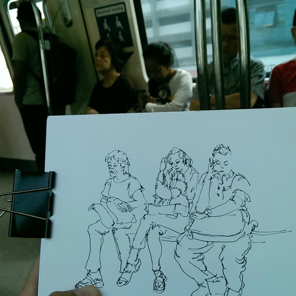 Singaporean commuters