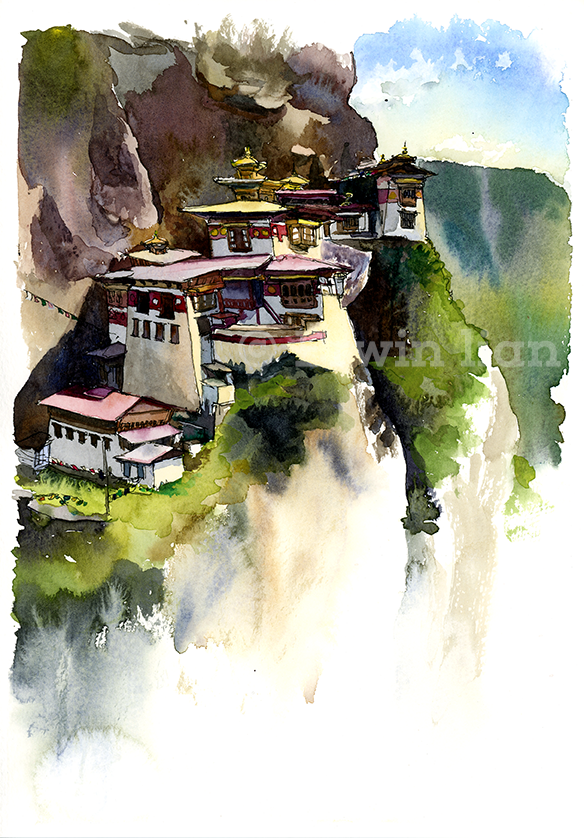 Tiger's Nest painting included in 2014 Calendar