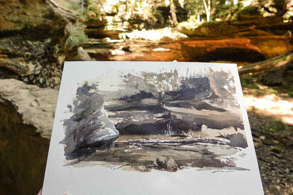 My painting at Hocking hills.