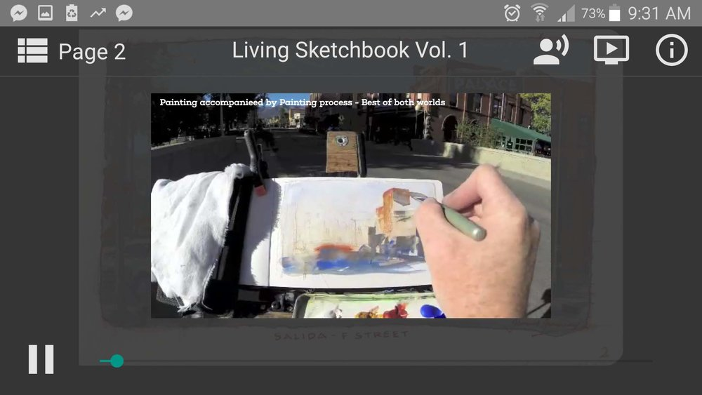 Video process of his work. One click away.