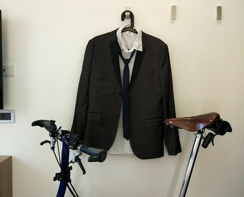 Gotta look sharp when riding a bicycle in Taiwan.