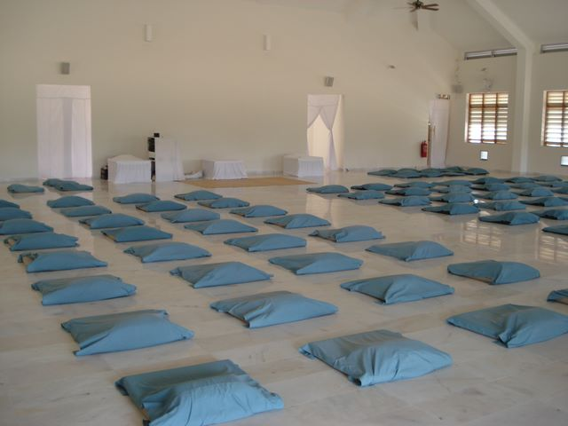 The hall we meditated in