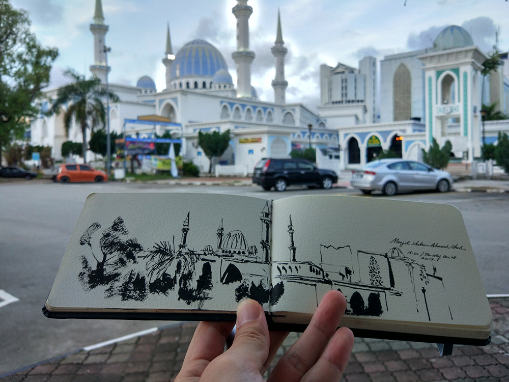 My only sketch done in Kuantan