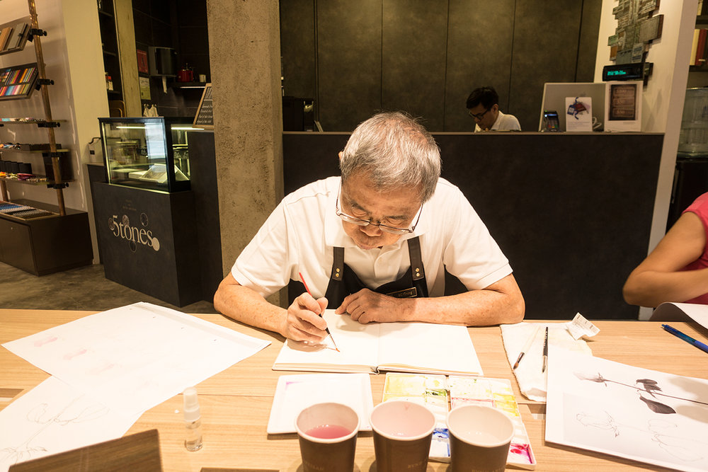 Mr Chong, master craftman at Bynd Artisan attended our workshop as well :)