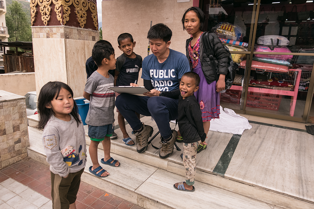 The friendly children in Thimphu.