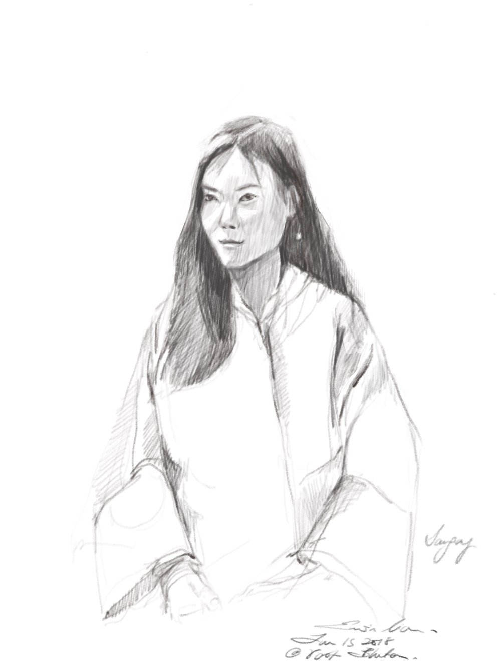 Live drawing of Sangay