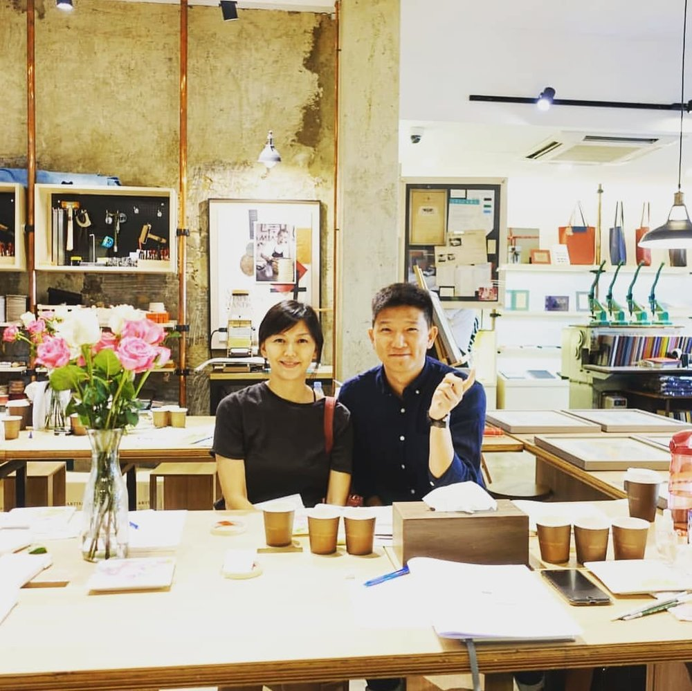 Guess who attended my Botanical Watercolor Workshop at Bynd Artisan ? Stefanie Sun !
