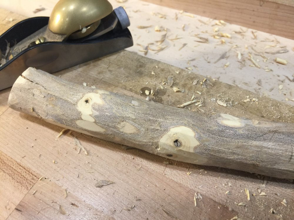 A block plane takes care of the knots.