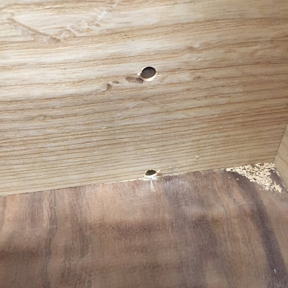 Though they're not fool proof... I almost drilled into the floating floorboard. I was lucky and just missed it..