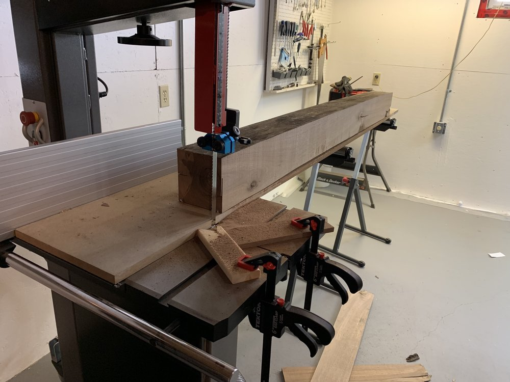 Used a mdf sled to get straight and true edge.