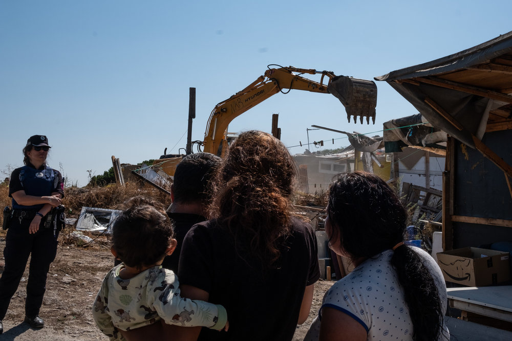 "Demolition of the shanty town settlement ""El Gallinero"" in Madrid"
