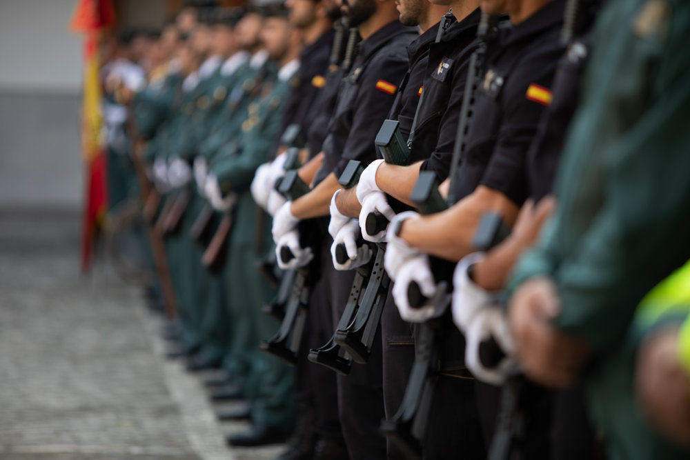 "Ceremony commemorating the patron saint of the ""Guardia Civil"" in Madrid"
