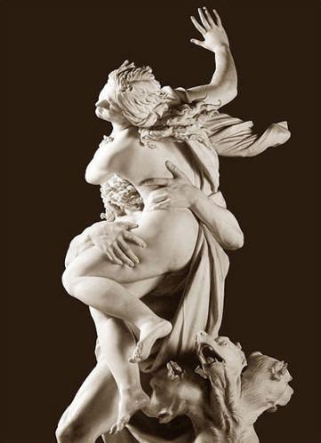 L'enlèvement de Proserpine, par Bernin, 1622