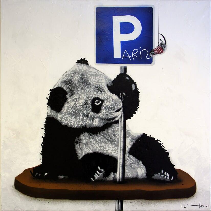 HAMA WOODS | Parked Panda (Paris), 2018