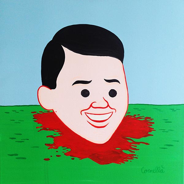 JOAN CORNELLÀ | UNTITLED   2017  Acrylique on canvas  23 3/5 × 23 3/5 in; 60 × 60 cm