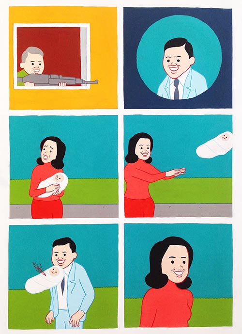 JOAN CORNELLÀ | UNTITLED   2017  Acrylique on canvas  63 × 39 2/5 in; 160 × 100 cm