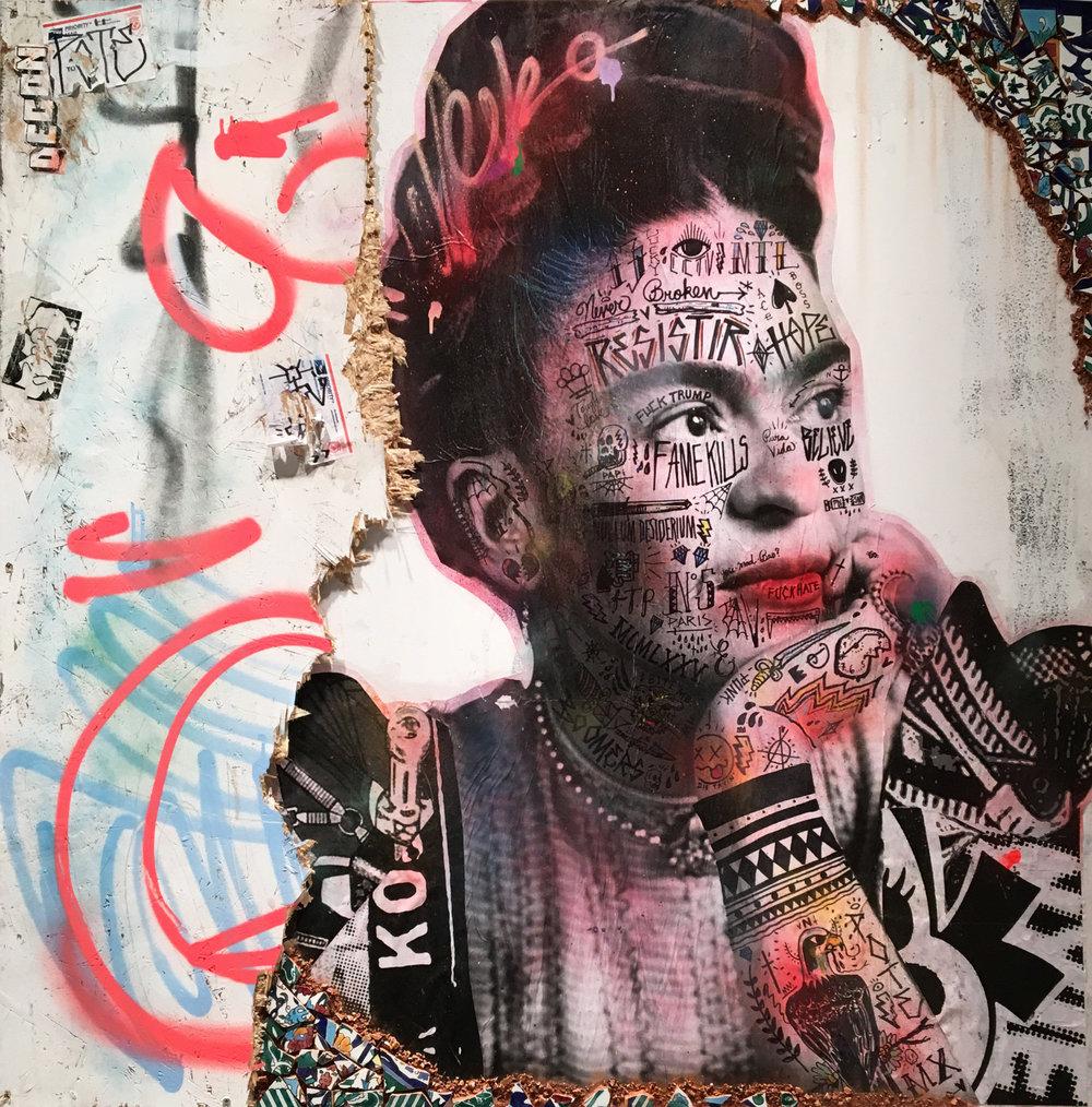 (SOLD) Stikki Peaches - Frida Kahlo de Rivera