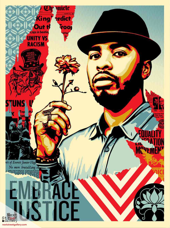 SHEPARD FAIREY | Embrace Justice