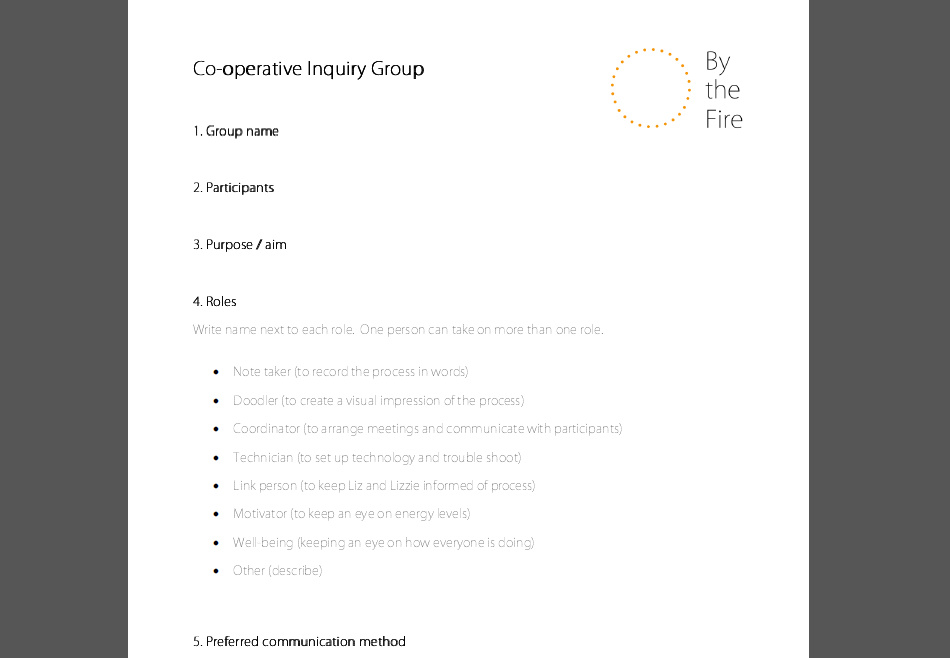 Group formation sheets
