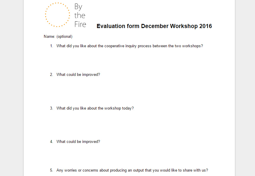 Evaluation form December