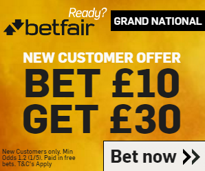 Bet £10 and get £30 of Free bets