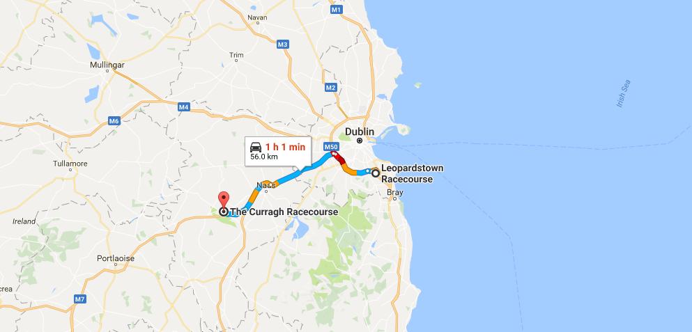 Map Of Ireland Racecourses.Longines Irish Champions Weekend The Parade Ring