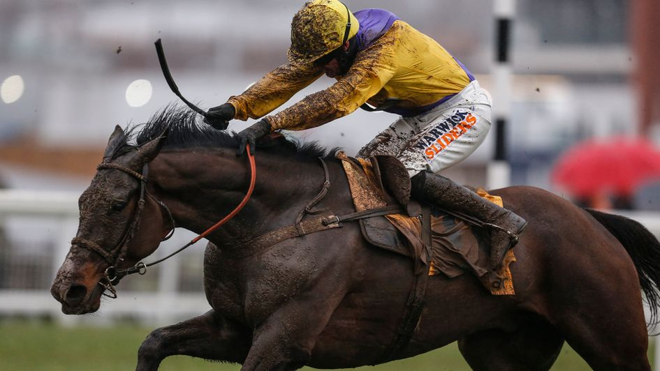 Kalashnikov & Jack Quinlan winning a very testing Betfair Hurdle at Newbury.