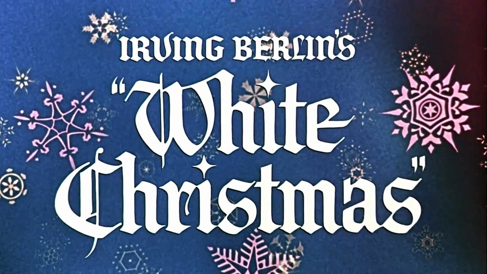 Title screenshot from the theatrical trailer for the film   White Christmas   (1954) (wikimedia commons)