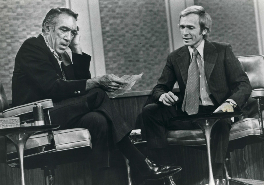 """""""Anthony Quinn on The Dick Cavett Show, 1971,"""" ABC / wikimedia commons"""