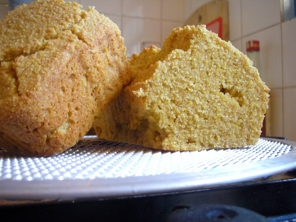 "Potatoes weren't around in 17th-century New England, but corn was plentiful. ""corn bread,"" achi raz /  flickr"