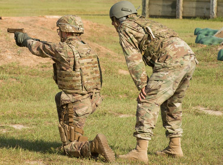 A soldier fires the Sig Sauer P320, which the Army has chosen as its new standard pistol.U.S. Army