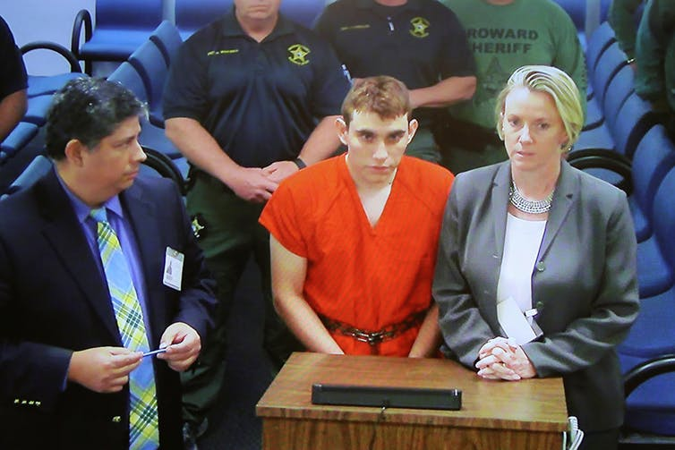 Nikolas Cruz, charged with 17 counts of premeditated murder, used an AR-15 semi-automoatic style weapon.Reuters/Susan Stocker
