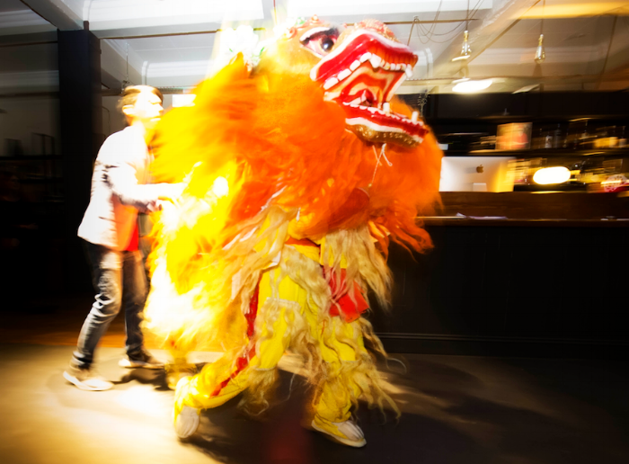 Imperial College Chinese Lion Dance at Green Rooms Hotel [15th Dec 2016]