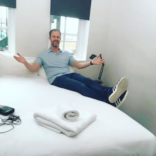 Photo: Otto Rosenberger, CEO of Hostel World visiting Green Rooms. Not quite an influencer yet Otto but good try!
