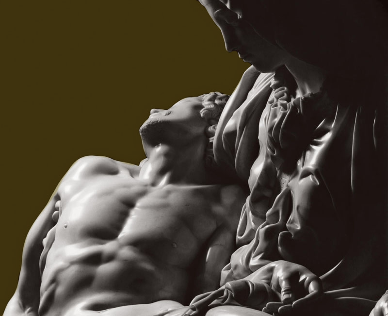 Detalle de la Pietá de Miguel Ángel, fotografiada por Robert Hupka.