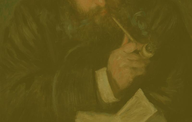 Fragmento de El lector (Monet), de Pierre-Auguste Renoir.
