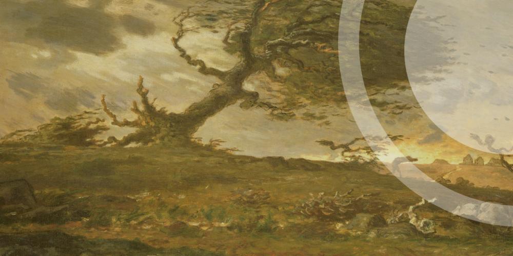 La ráfaga de viento, Jean-François Millet, 1871-73.