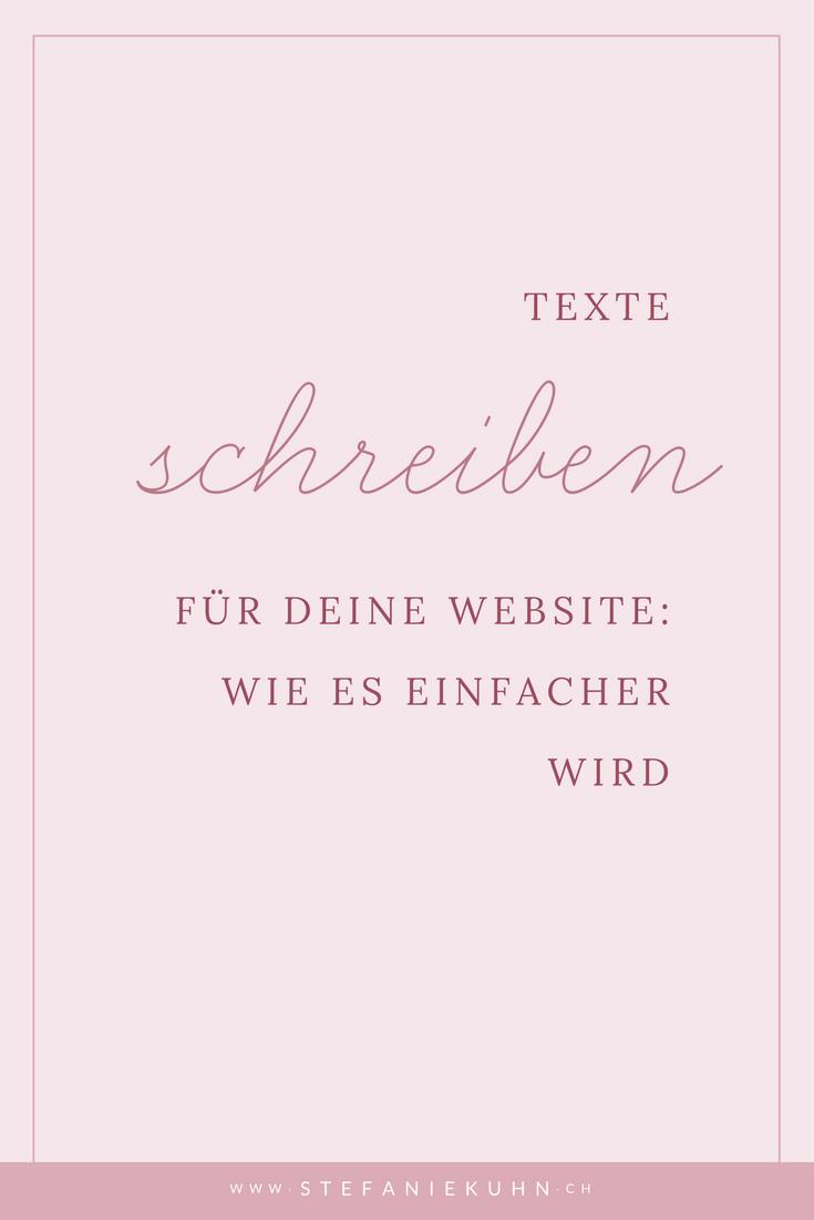 Texte schreiben für deine Website: Wie es einfacher wird