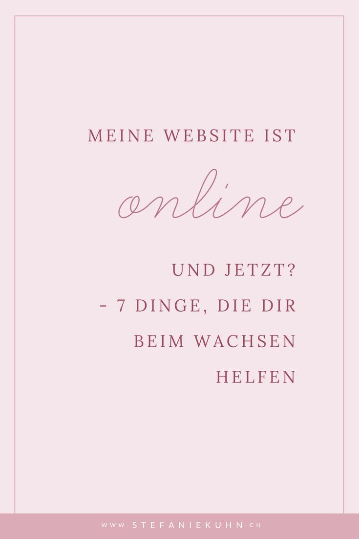 Meine Website ist online - und jetzt?