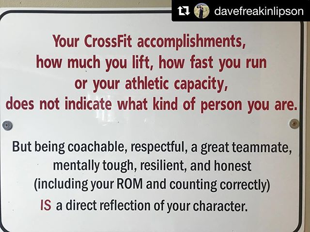 Amen 🙏  #Repost @davefreakinlipson ・・・ Don't confuse talent with character. However, the vessels for character development are all around us. These are gifts, opportunities, tests and challenges we get to live everyday. They happen at home, at the gym and in life. The greatest battles you will get to fight will happen in your head and in your heart. Be a champion. #yougottawantit @camillelbaz @thundrbro @clbnation @justinsua @crossfit @crossfittraining @frontrangecrossfit