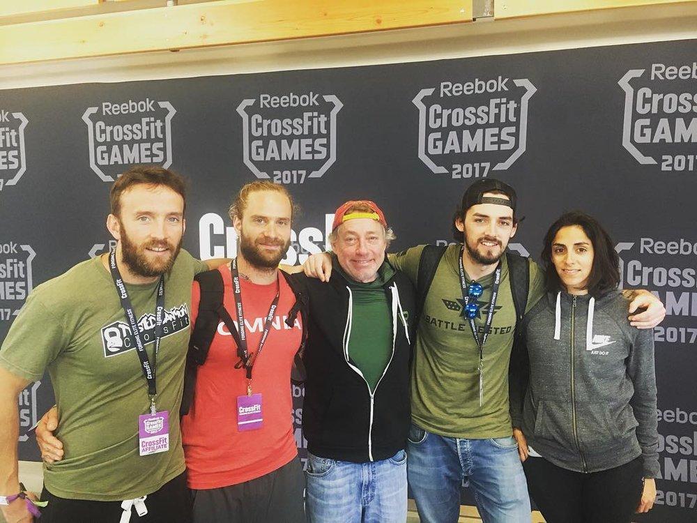 Greg Glassman et une partie de l'équipe Silvaticus lors des CrossFit Games 2017